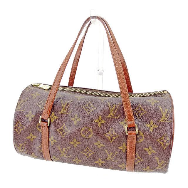 【中古】 【送料無料】 ルイ ヴィトン Louis Vuitton ハンドバッグ 筒型バッグ メンズ可 パピヨン26(旧タイプ) モノグラム ブラウン モノグラムキャンバス 訳あり T1410 .