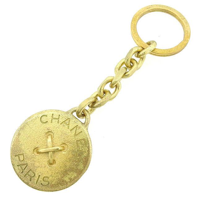 【中古】 【送料無料】 シャネル キーホルダー キーリング レディース ボタンモチーフ ゴールド ゴールド Chanel T1467 .