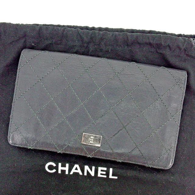 cf244cbe3467 【中古】 【送料無料】 シャネル CHANEL 長財布 ファスナー付き 財布 メンズ可