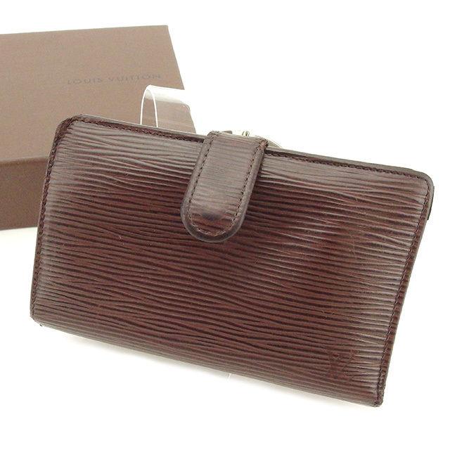 【中古】 ルイ ヴィトン がま口財布 財布 二つ折り財布 モカ(ブラウン系) T1720s