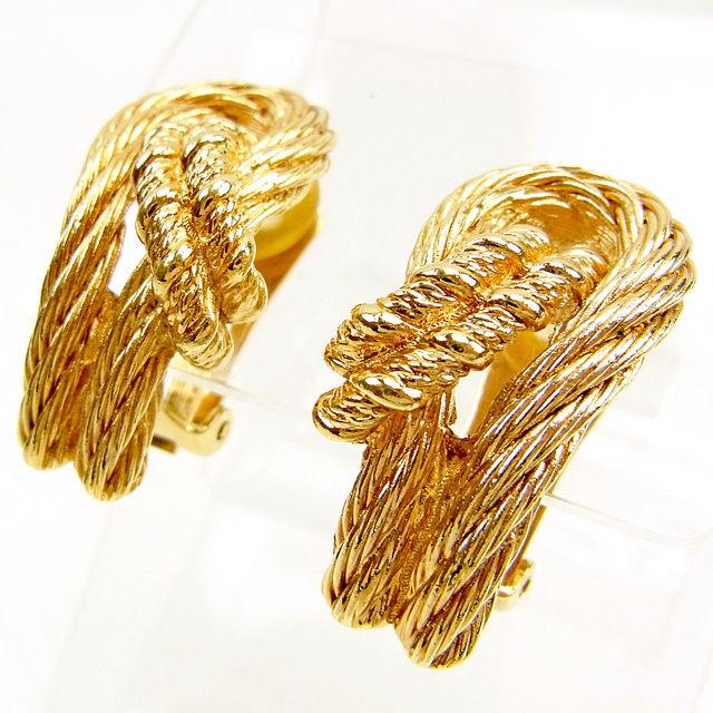 【中古】 【送料無料】 ディオール イヤリング アクセサリー レディース ゴールド ゴールドメッキ Christian Dior T174 .