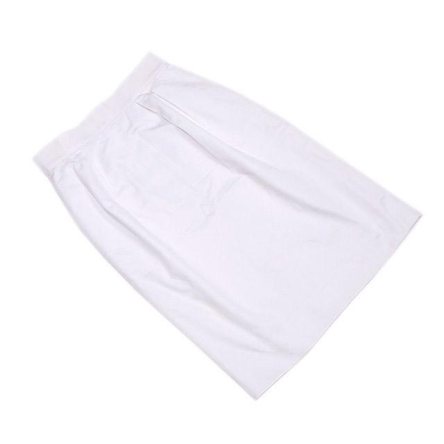 【中古】 【送料無料】 ディオール Dior スカート レディース ♯Sサイズ タイト ホワイト コットン綿100%(裏地)ポリエステル100% 人気 T1929