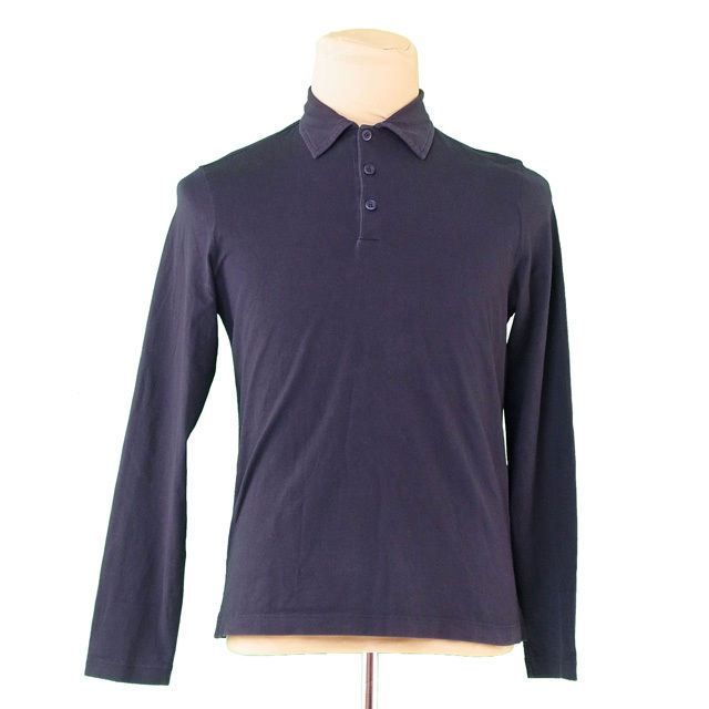 79b01c93 Prada polo shirt cut-and-sew men long sleeves ♯ large size dark navy Prada  T2179