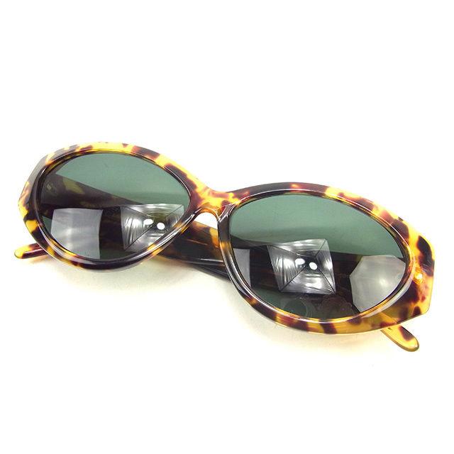 【中古】 【送料無料】 グッチ GUCCI サングラス メガネ メンズ可 インターロッキングG べっ甲柄フレーム クリアグリーン×ベージュ×ブラウン系 プラスチック 美品 T248