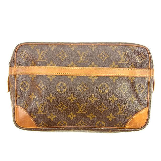 4c4492c4b Sale T429 which there is Louis Vuitton Louis Vuitton clutch bag men's  possible Compiegne 28 monogram brown monogram canvas reason in