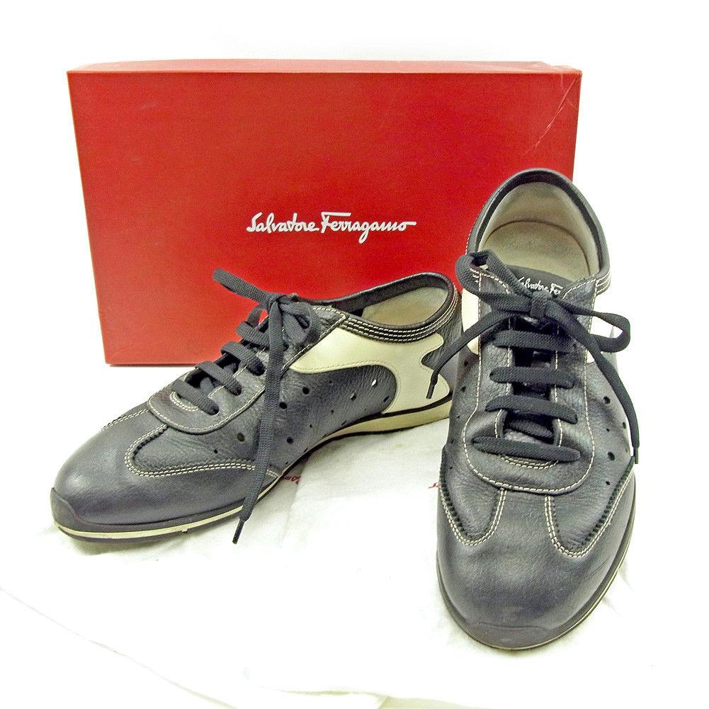 4629edb7a6b Salvatore Ferragamo Salvatore Ferragamo sneakers #8EE men's possible black  X white leather popularity sale T3724