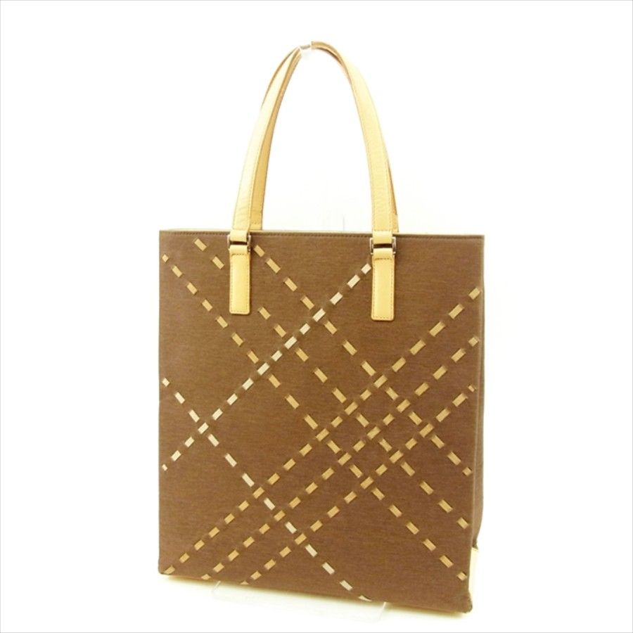Burberry BURBERRY tote bag handbag lady s men s possible brown X beige  canvas X leather popularity sale T4688 ed16508c43