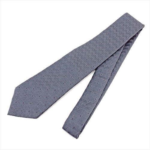 ルイ ヴィトン Louis Vuitton ネクタイ メンズ  グレー 灰色 100%シルク 美品 セール 【中古】 T5794