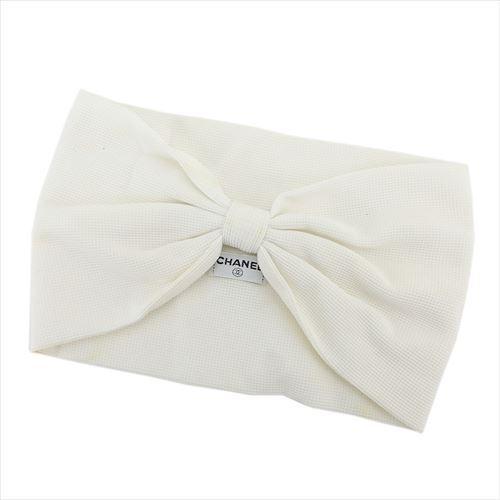 【中古】 【送料無料】 シャネル ターバン ヘアバンド レディース ホワイト 白 Chanel T5804 .