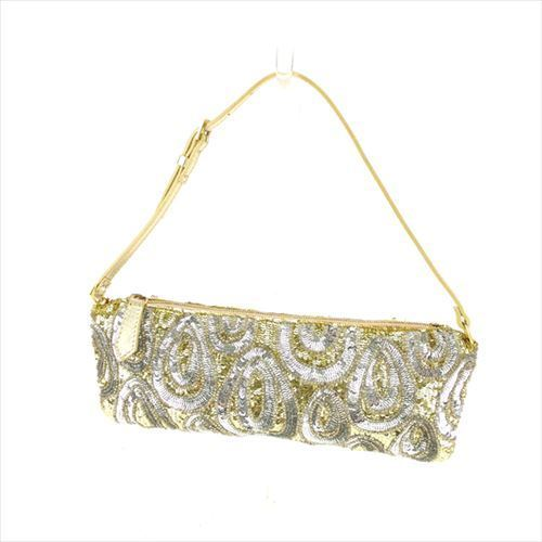 31810672f6c Valentino Garavani VALENTINO GARAVANI party bag porch Lady's spangles gold  silver beauty product T5961.