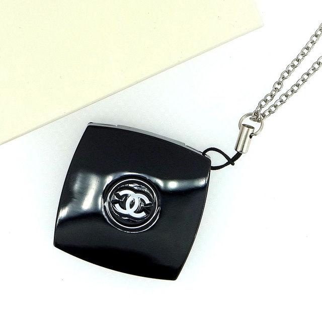 【中古】 【送料無料】 シャネル ストラップ コンパクトミラー レディース ココマーク ブラック Chanel Y258 .