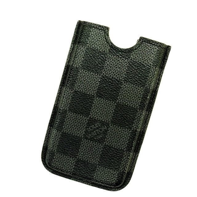 【中古】 【送料無料】 ルイヴィトン iPhone4ケース レディース ダミエ・グラフィット Louis Vuitton Y1407 .