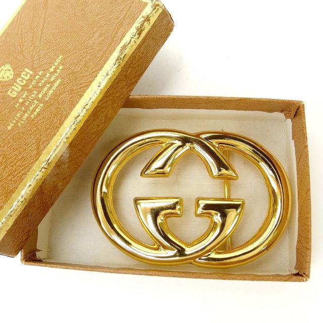【中古】 【送料無料】 グッチ バックル レディース インターロッキング ヴィンテージ ゴールド Gucci Y1697 .