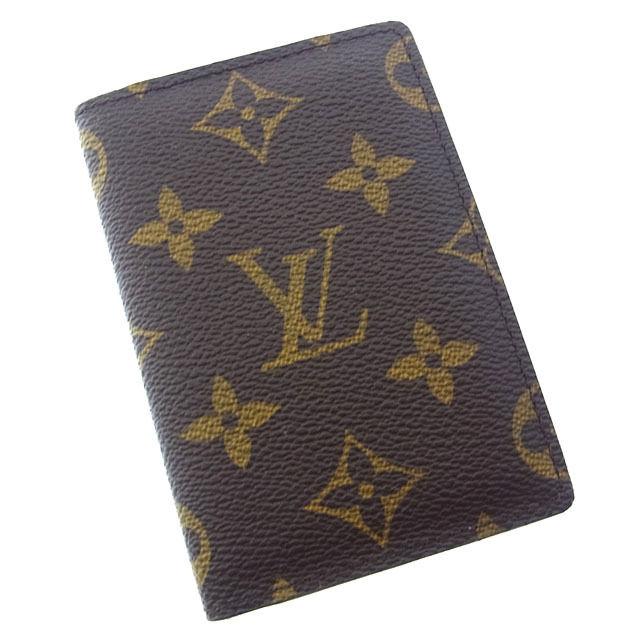 【中古】 【送料無料】 ルイヴィトン Louis Vuitton カードケース パスケース メンズ可 オーガナイザードゥポッシュ モノグラム M60502 ブラウン モノグラムキャンバス (あす楽対応)美品 人気 Y1870