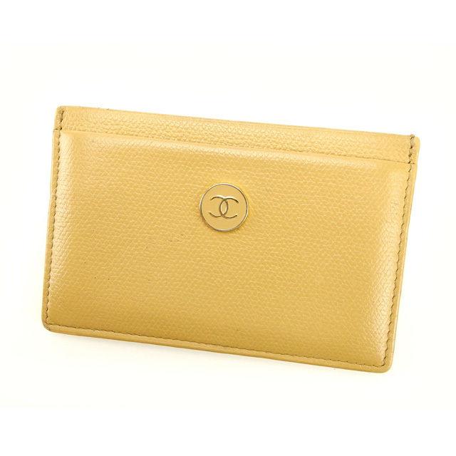 【中古】 【送料無料】 シャネル カードケース レディース ベージュ Chanel Y2268 .