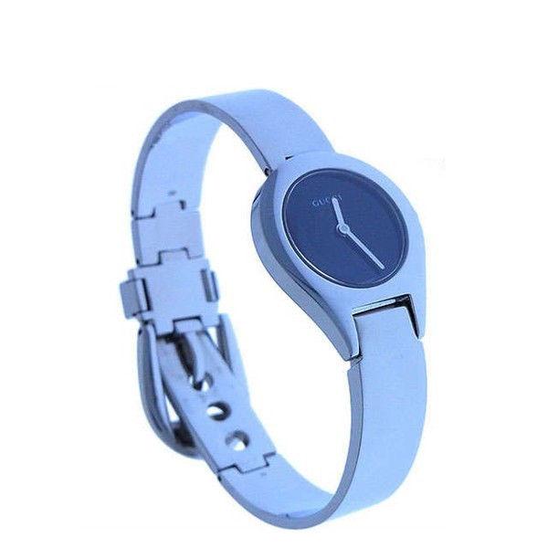 【中古】 【送料無料】 グッチ 腕時計 クォーツ レディース ラウンドフェイス シルバー×ブラック Gucci T11101