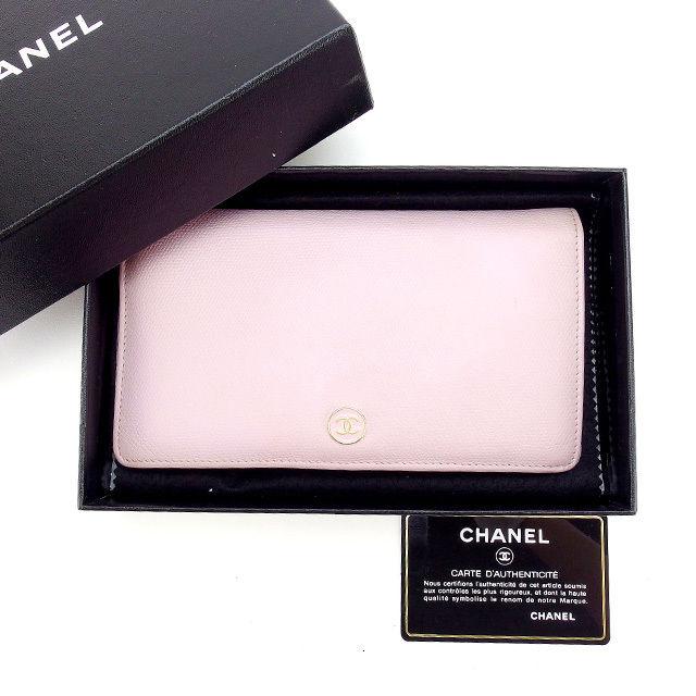 【中古】 【送料無料】 シャネル 長財布 レディース ココボタン ピンク Chanel Y2725 .