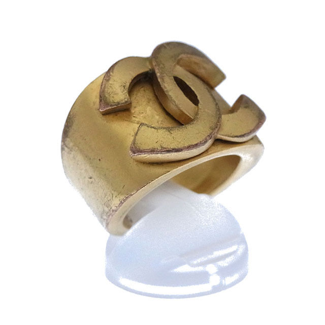 ♯13号 ゴールド リング T12594 【シャネル】 【中古】 ココマーク 指輪 シャネル CHANEL ヴィンテージクラシック . アクセサリー
