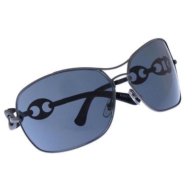 【中古】 【送料無料】 グッチ GUCCI サングラス メガネ メンズ可 サイドロゴ入り オーバル型 GG2784/F/S KJ1P9 クリアブラックブラックシルバー プラスティック×ブラックシルバー金具 (あす楽対応)美品 Y3056
