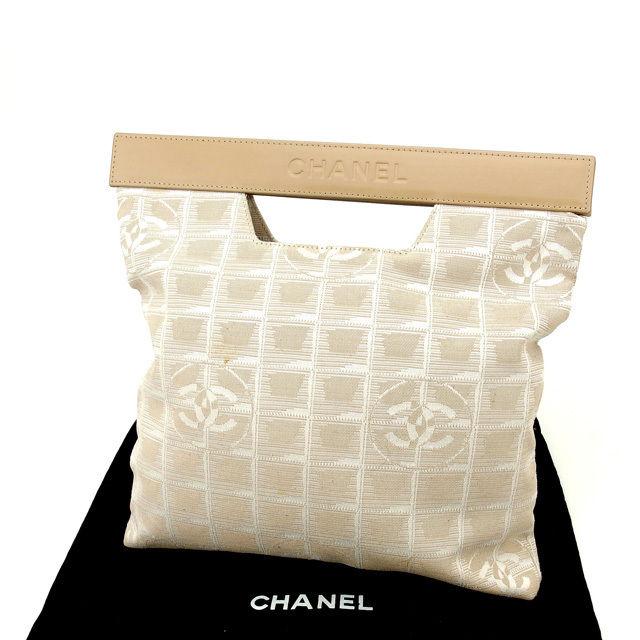 【中古】 【送料無料】 シャネル ハンドバッグ レディース ニュートラベルライン ベージュ Chanel Y985 .