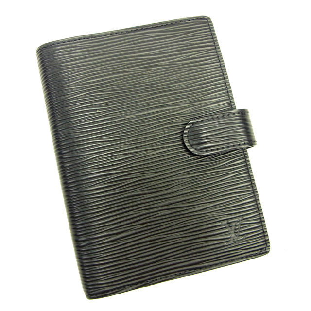 【中古】 【送料無料】 ルイヴィトン Louis Vuitton 手帳カバー カード入れ×3 レディース アジェンダPM エピ ノワール(ブラック) レザ- 美品 Y3501