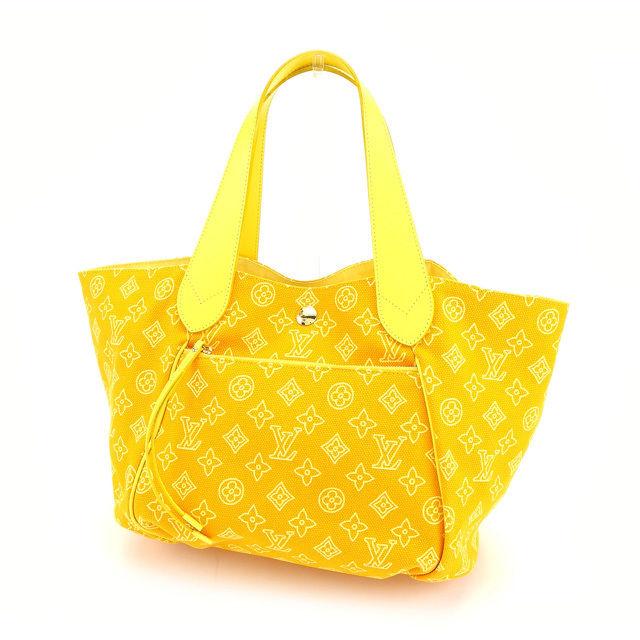 c4afd41282a7 2009 Louis Vuitton Louis Vuitton tote bag hippopotamus イパネマ GM lady s men s  possible beach line collection monogram yellow canvas X leather ...