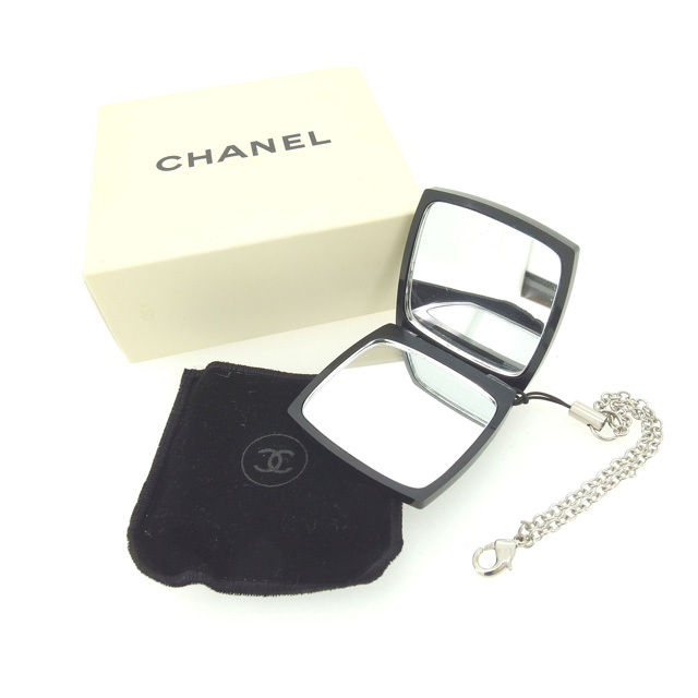 【中古】 【送料無料】 シャネル ミニミラー チェーンストラップ付き レディース ブラック×ホワイト Chanel Y4065 .