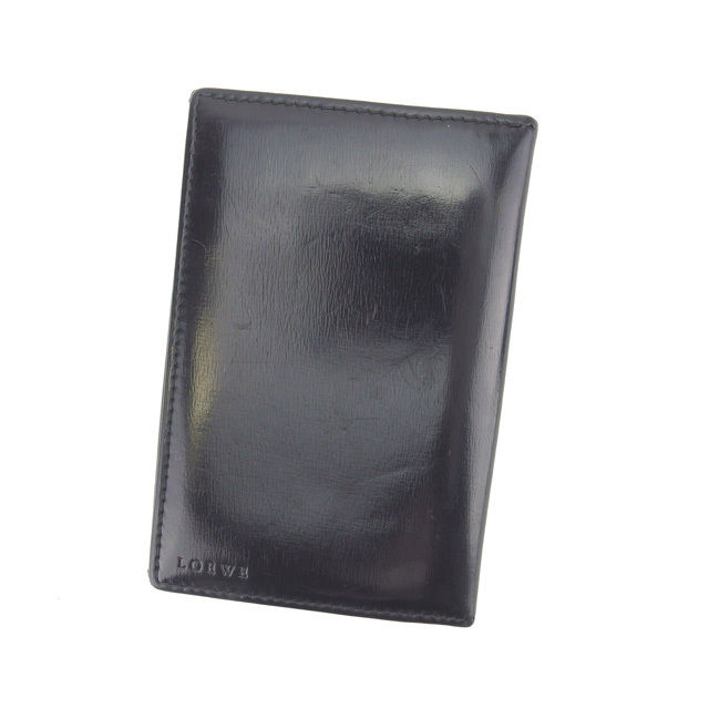 【中古】 【送料無料】 ロエベ カードケース 名刺入れ レディース ロゴ ブラック Loewe Y4151 .