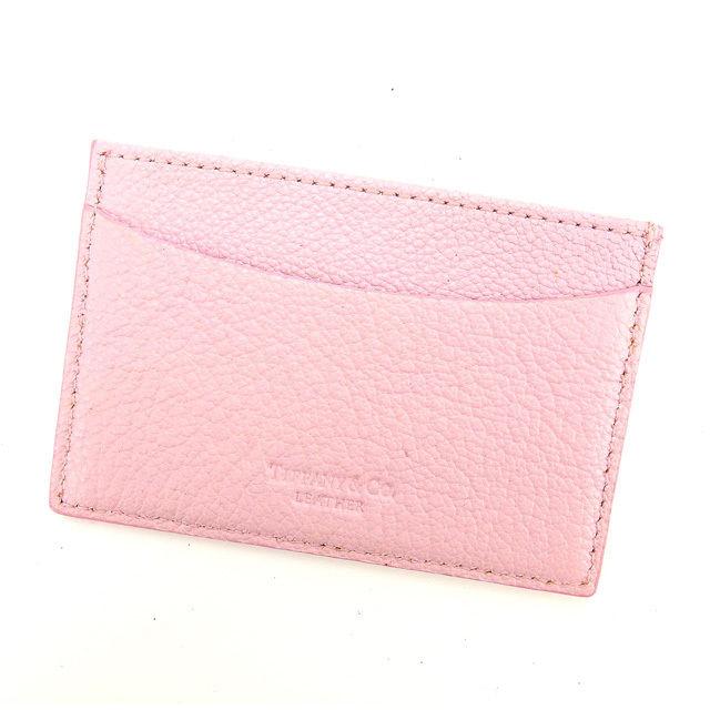 【中古】 【送料無料】 ティファニー カードケース 名刺入れ レディース ピンク Tiffany & Co Y4422 .