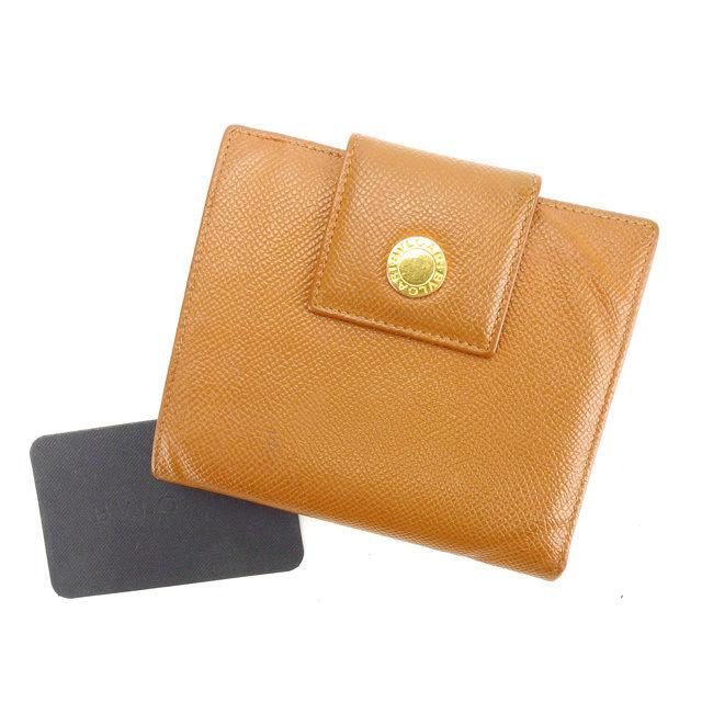 【中古】 【送料無料】 ブルガリ 二つ折り財布 レディース ブルガリ ブルガリ ブラウン Bvlgari Y4450 .