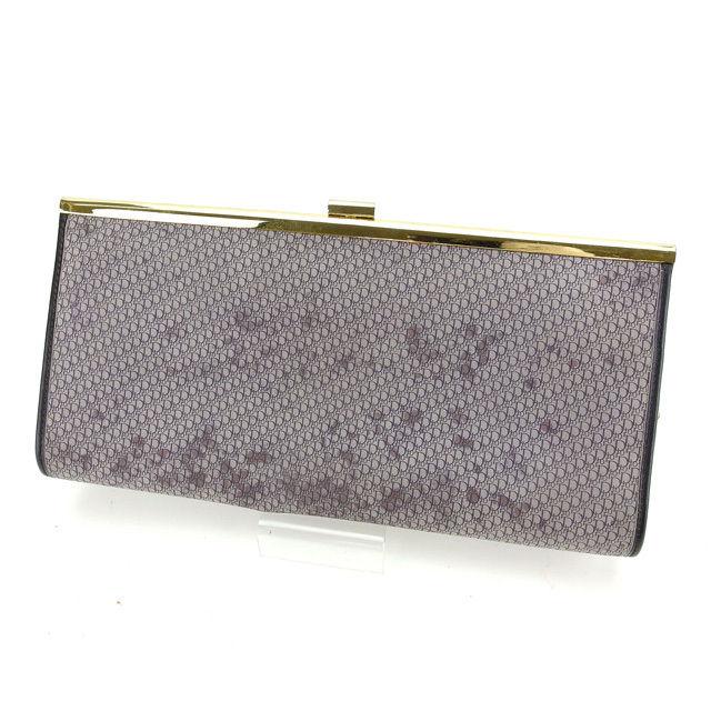 【中古】 【送料無料】 クリスチャンディオール Christian Dior クラッチバッグ レディース トロッター グレー系 スエード (あす楽対応)良品 Y4454 .