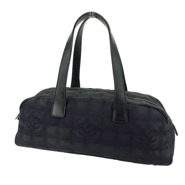 【中古】 【送料無料】 シャネル ハンドバッグ ミニボストンバッグ レディース ニュートラベルライン ブラック Chanel Y4529 .
