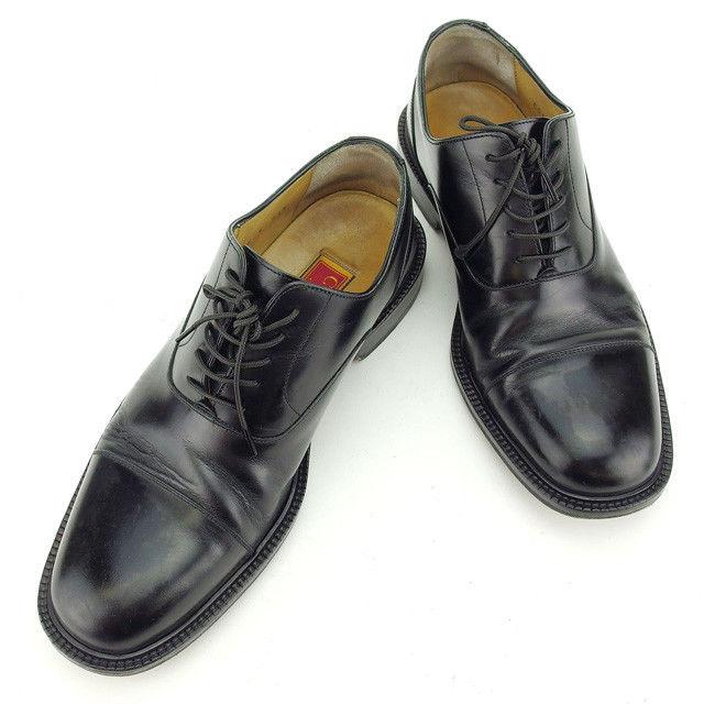 【中古】 【送料無料】 コールハーン Cole Haan シューズ 靴 メンズ ♯8E ストレートチップ ブラック レザー 人気 Y5473 .