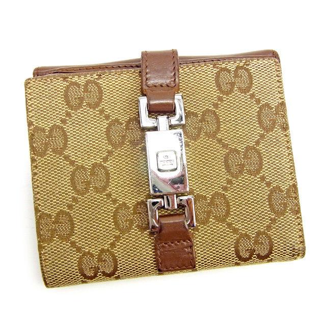 7820eba26f53 【中古】 【送料無料】 グッチ Gucci Wホック財布 レディース メンズ 可 GG