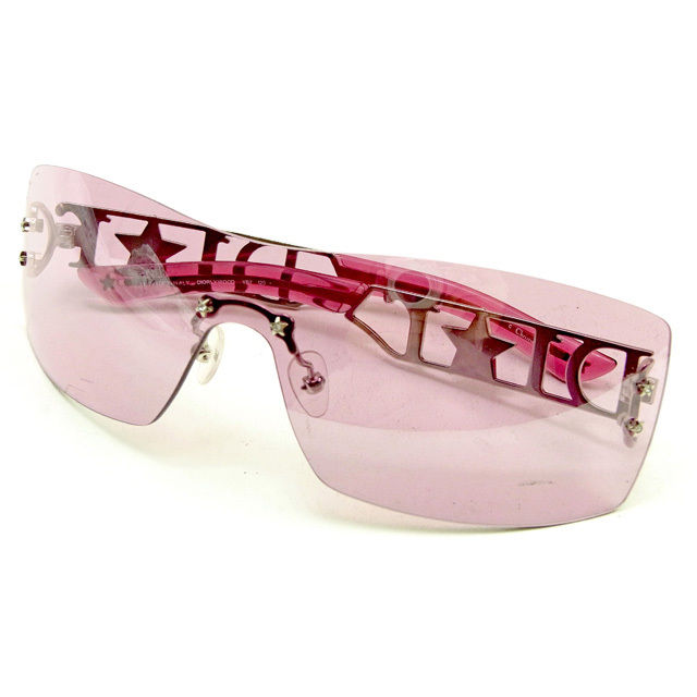 7f1da45179 One-length type clear pink X silver plastic X silver metal fittings  popularity sale Y7278 with the Dior Dior sunglasses star glasses Lady s  rhinestone