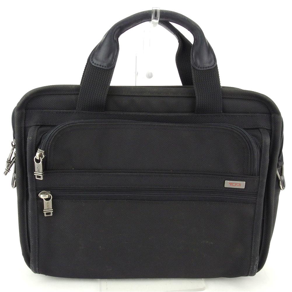 【中古】 トゥミ ビジネスバッグ ブリーフケース メンズ スモールエクスパンダブルコンピューター ロゴ ブラック シルバー レッド バリスティックナイロン TUMI Q603