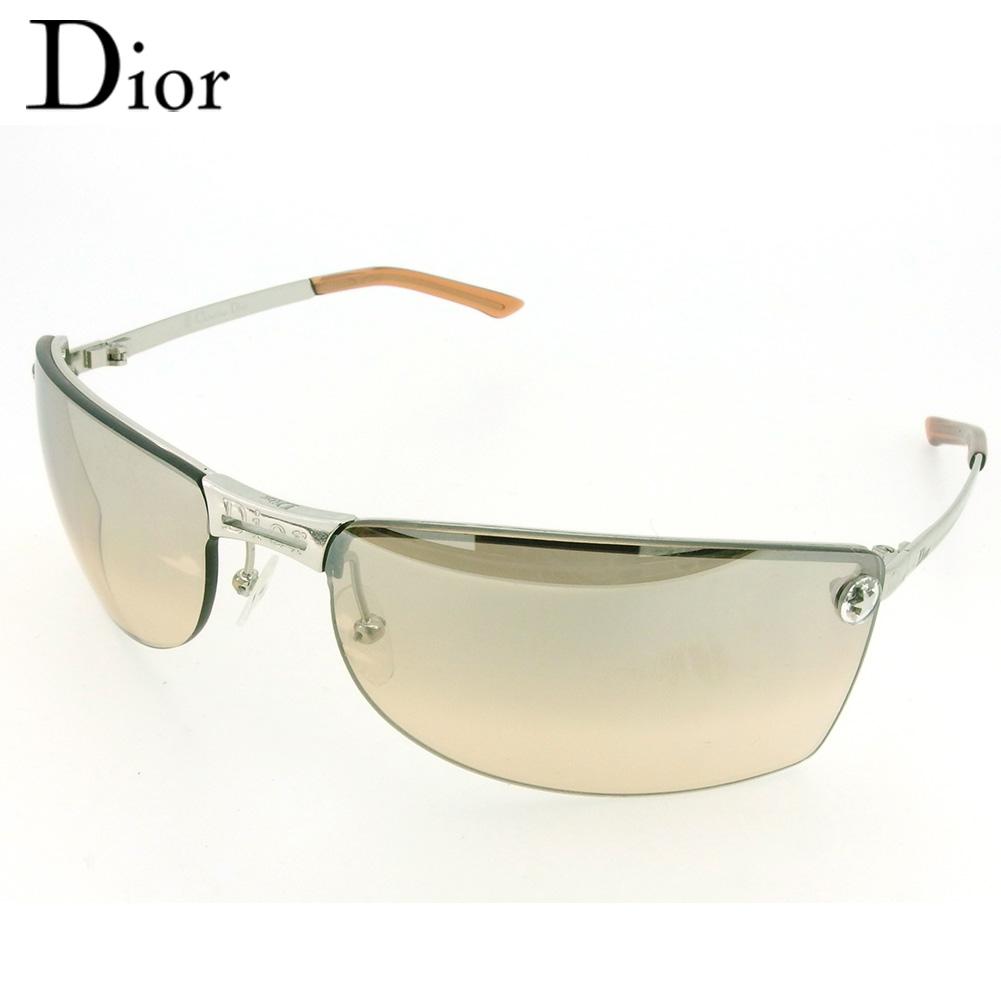 【中古】 ディオール サングラス メガネ アイウェア レディース メンズ ADIORABLE グラデーション ブラウン シルバー系 プラスチック×シルバー金具 Dior Q609