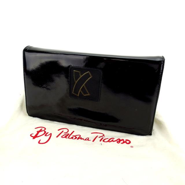 【中古】 【送料無料】 パロマピカソ ショルダーバッグ クラッチバッグ レディース ブラック Paloma Picasso Y4457 .