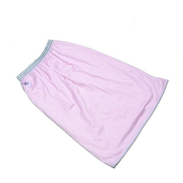 【中古】 レオナール LEONARD スカート フレアー レディース ウエストボーダー ピンク×ブルー系 綿100%(裏地)キュプラ100% T117