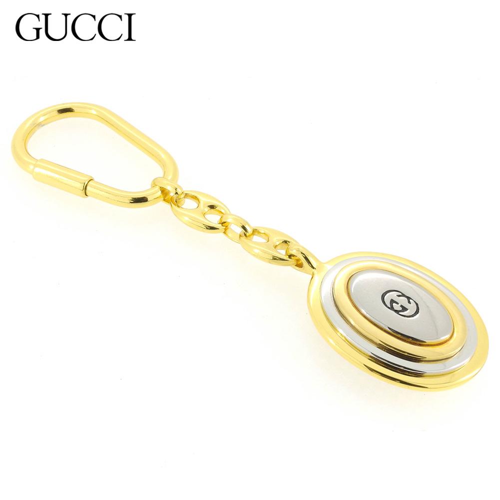 【中古】 グッチ キーホルダー キーリング レディース メンズ ゴールド Gucci T16882 .