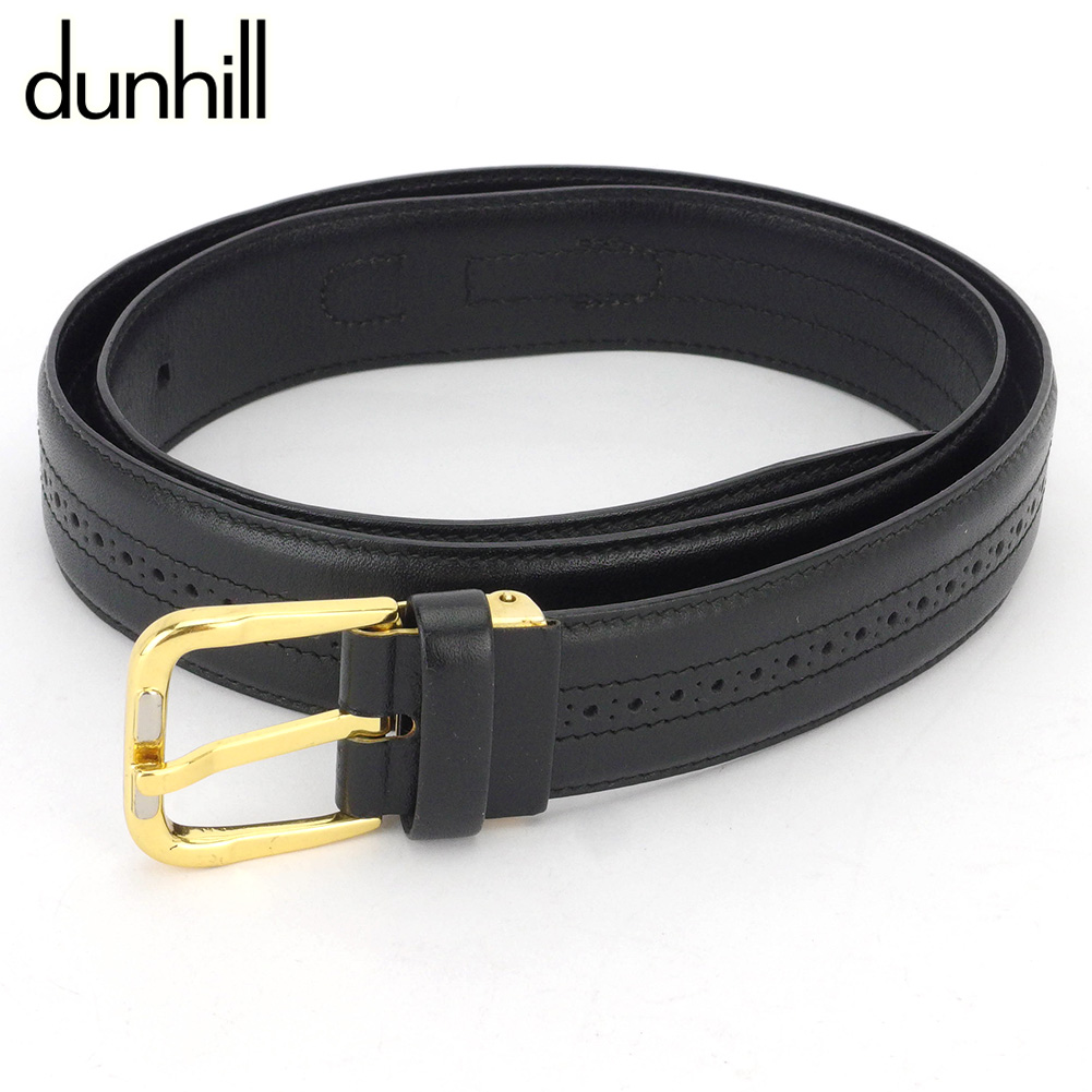 【中古】 ダンヒル ベルト メンズ ロゴ ブラック レザー dunhill T16910 A