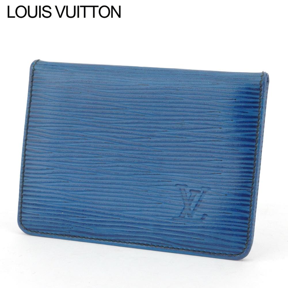 【中古】 ルイ ヴィトン 定期入れ パスケース ポルト2カルトヴェルティカル エピ ブルー エピレザー Louis Vuitton L2944