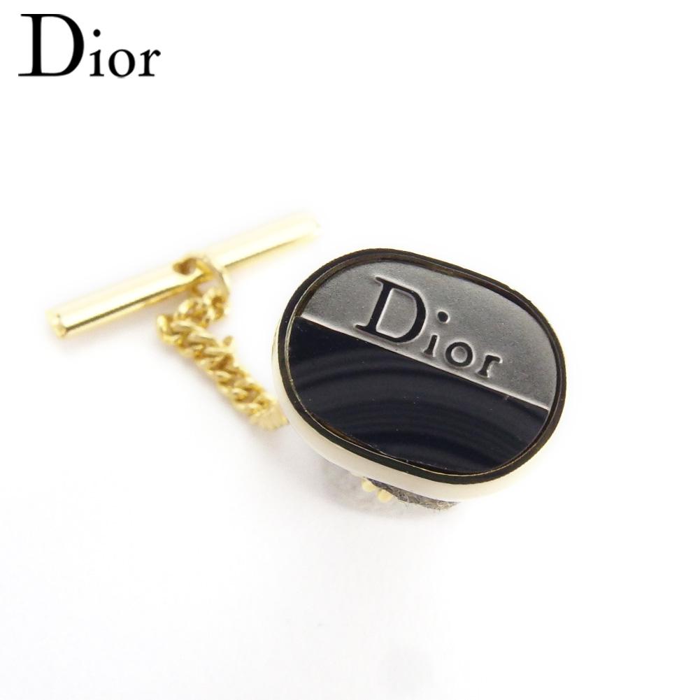 【中古】 ディオール ネクタイピン タイピン タイタック ロゴ シルバー ゴールド シルバー&ゴールド金具 Dior T17432
