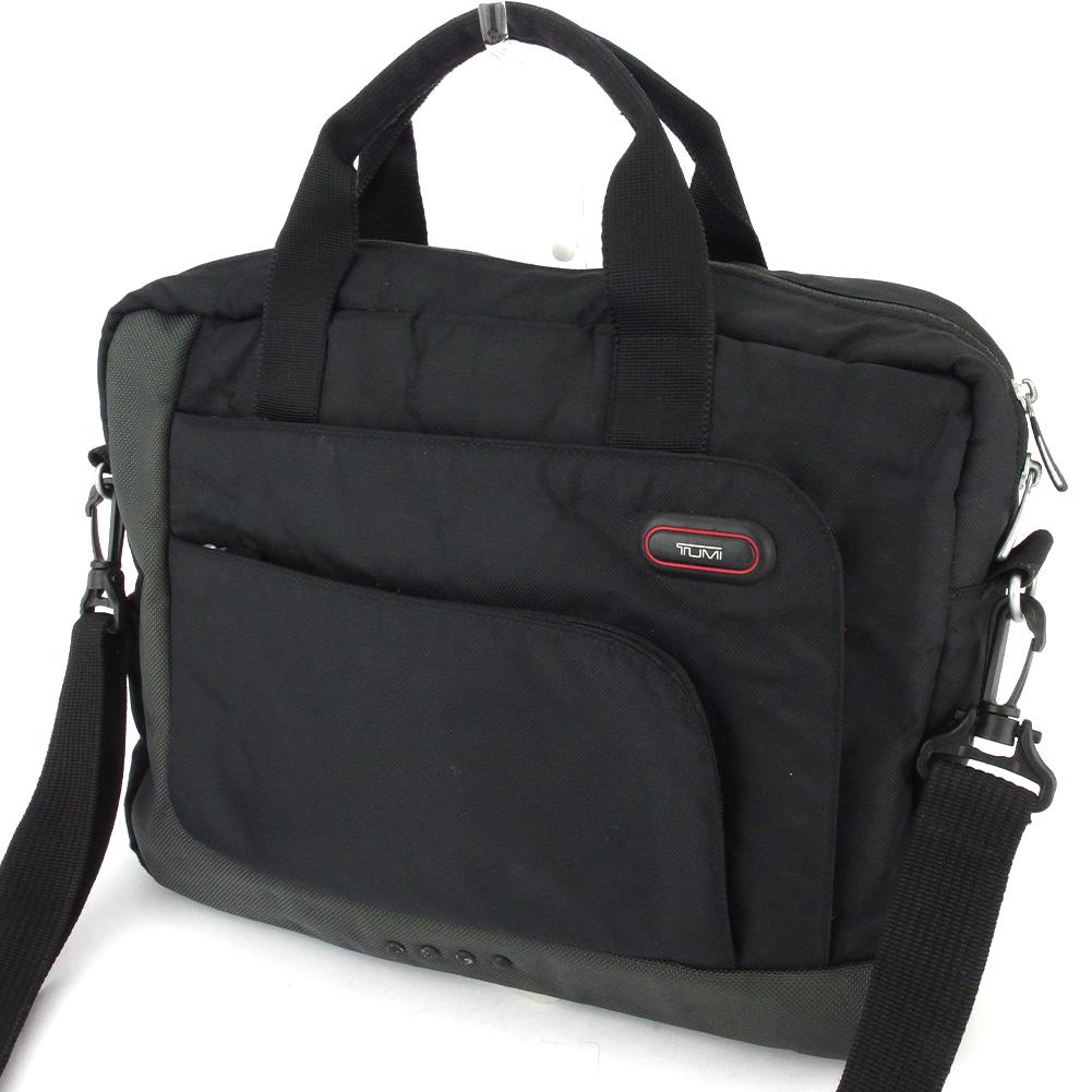 【中古】 トゥミ ビジネスバッグ ブリーフケース メンズ ブラック グレー 灰色 ナイロン TUMI D2233
