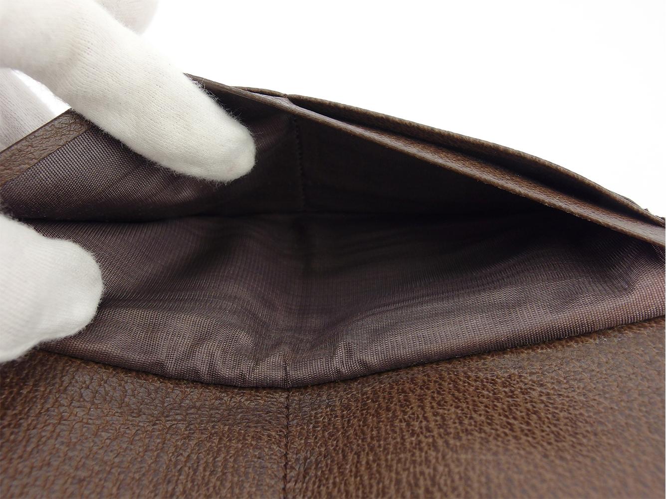 【中古】ブルガリ長財布Wホック財布レディースメンズロゴマニアブラウンブラックシルバーキャンバス×レザーBVLGARIT18175