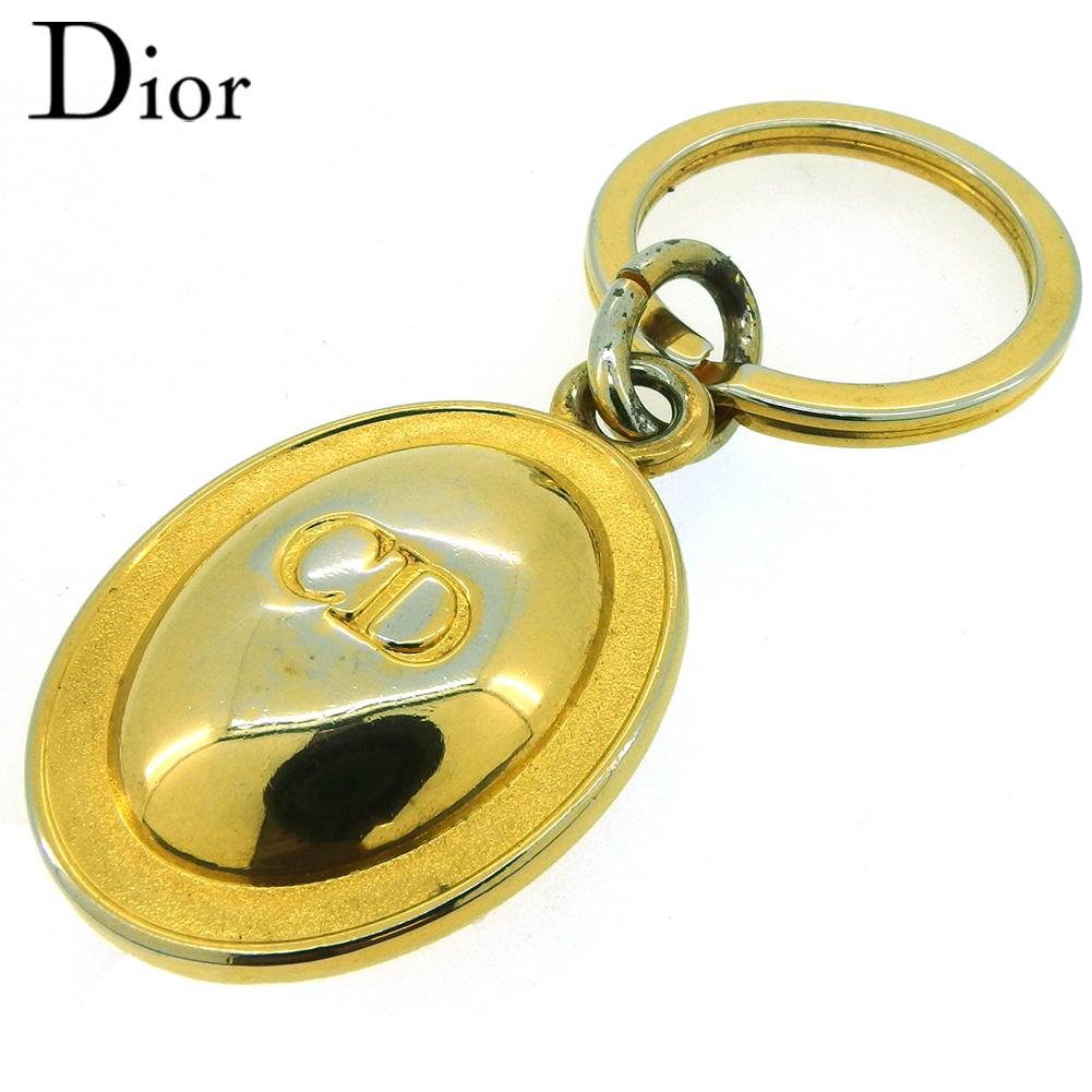 【中古】 ディオール キーホルダー キーリング レディース メンズ CDマーク ゴールド ゴールドメッキ Dior T18183