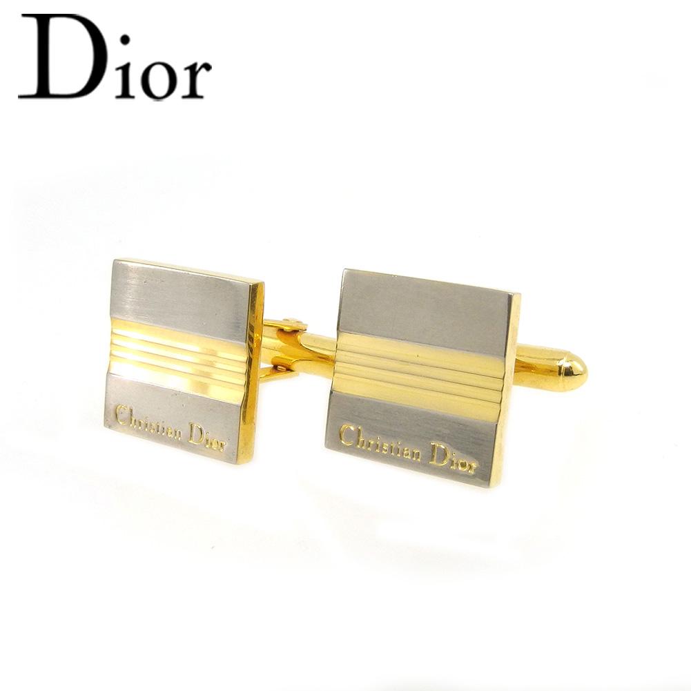 【中古】 ディオール カフス レディース メンズ ロゴ ゴールド Dior T18468