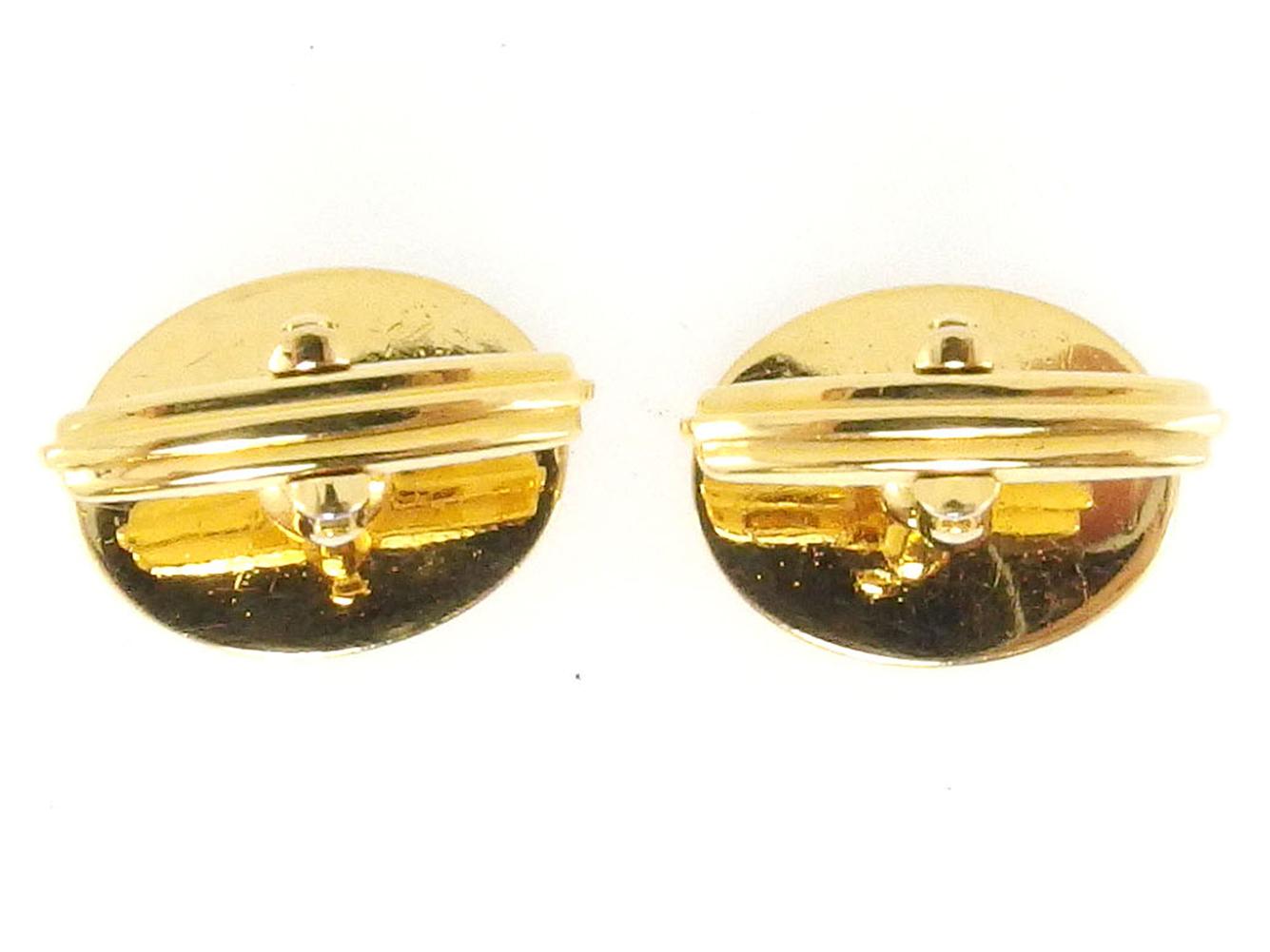 ダンヒル カフス カフリンクス メンズ ラウンドフォルム スウィヴル式 dマーク ゴールド ブラック ゴールド金具 dunhill T18557 Ay0PmNnwv8O