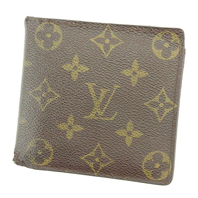 【中古】 【送料無料】 ルイ ヴィトン 二つ折り財布 財布 ブラウン系 G1163s