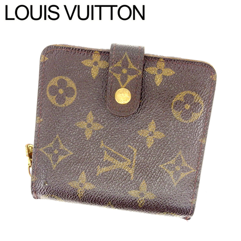 2a3b2c73c371 (Cheap and quick delivery) (Support) Louis Vuitton  Louis Vuitton   two  fold wallet   mens-friendly compact zip   Monogram   Brown   x F329 leather  ...